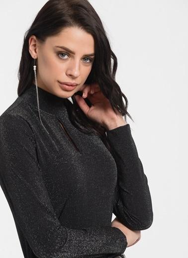 Styletag Damla Detaylı Bluz Antrasit